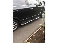 Car side steps, running boards, pair- stainless steel