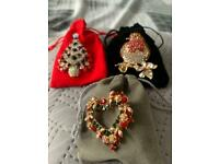 Christmas brooches set of 3