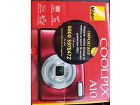 Nikon Coolpix A10 red camera