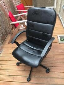 Ikea leather office chair for free - collection only