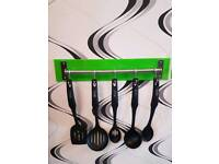 Tower kitchen utensil set with a choice of coloured perspex backing
