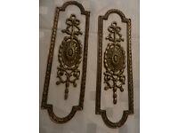Authentic Antique Brass Door Furniture