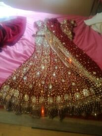Bridal lengha.... rrp cost £500 selling for £250