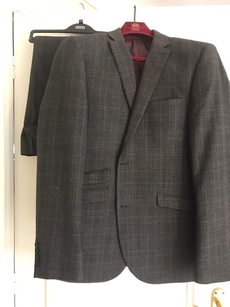 Mens 3 piece grey suit