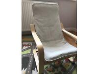 Children's armchair Ikea Birch veneer