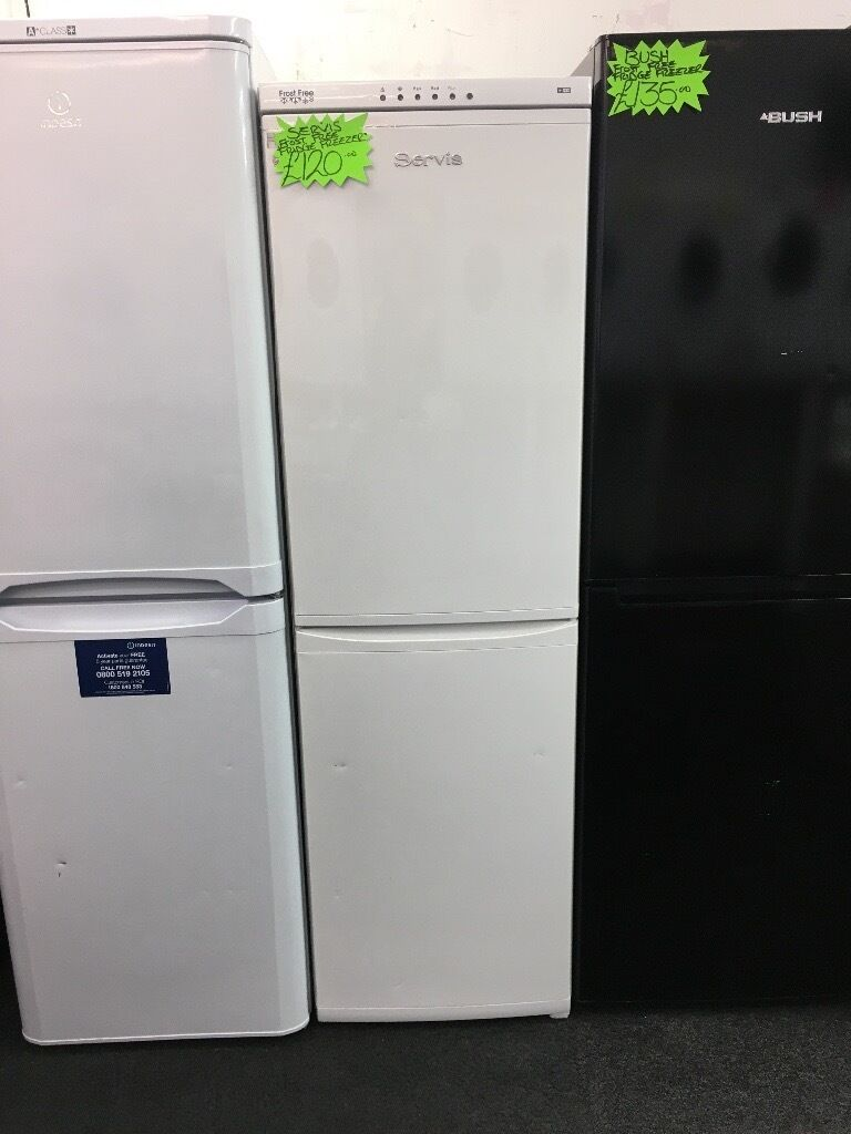 SERVIS FROST FREE FRIDGE FREEZERin Hull, East YorkshireGumtree - SERVIS frost free fridge freezer • frost free • half and half • medium size • fully complete • in white • guaranteed • less than 1 year old all our items are in perfect condition and in perfect working order for anymore information...