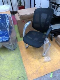 New Mirage II Black Mesh Cantilever Chair/ Home Office Chair/Office Chair