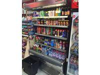 Commercial dairy drink display fridge. Arneg portugessa