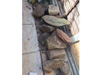 13 large to medium rockery stones