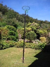 Full size heavy duty netball post with weight