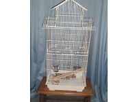 Large white bird cage for sale