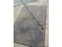 2 horse box rubber mat flooring from ifor williams trailer