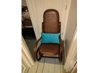 Elegant bentwood rocking chair