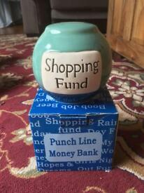 Ceramic shopping fund money box