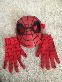 Spider man mask and gloves