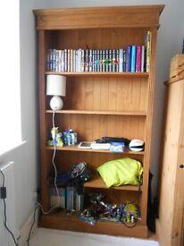 Solid antique pine bookcase.