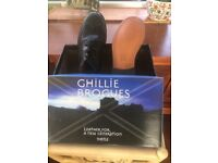 Men's leather Ghillie Brogues, size 10 1/2