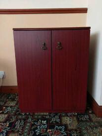 Mahogany Effect 2 Door Cupboard