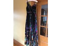 Black /Multi-coloured - Dress / evening gown/prom dress/black tie/ Brand: Dynasty London