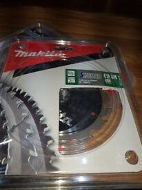 Makita blades x 2 for cordless saw