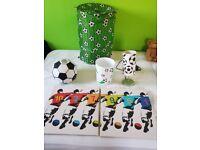 Bedroom football theme accessories.