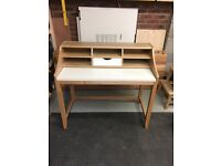 Writing Desk, Ash/White- John Lewis