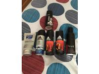 New men's body sprays and a face wash
