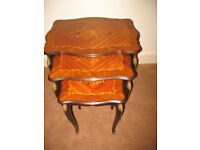 Nest of 3 occasional inlaid tables, French Louis XVstyle, Wylie& Lochhead Glasgow Neoclassic.vintage