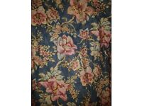 4 matching pairs of quality traditional patterned pencil pleat curtains
