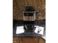 Igenix IG8225 1050W 1.5 Litre Bean to Cup Digital Filter Coffee Maker - Brushed Stainless Steel