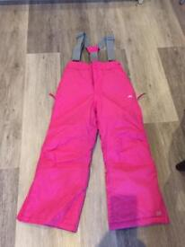 Girls pink Salopettes age 5/6 years