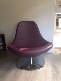 IKEA LEATHER TIRUP SWIVEL CHAIR - Purple FOR ONLY £60