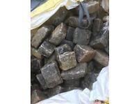 Large granite cobbles
