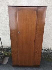 Vintage oak single door wardrobe
