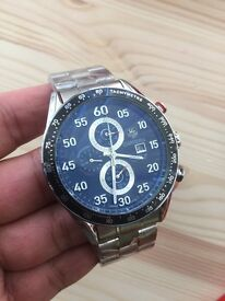 Stainless glass back tag heuer carrera calibre 16 watch