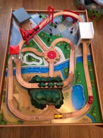 ELC train table & car set