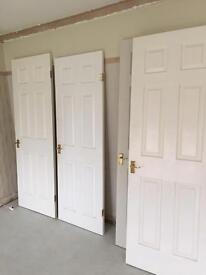 2 x internal 6 panel doors