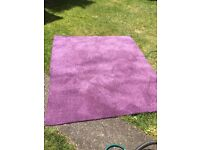 **2 PIECES OF BRAND NEW*UNUSED*BEAUTIFUL**PLUM COLOURED CARPET*LOVELY AND SOFT*SUITABLE FOR BATHROOM