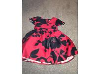 Next black and red floral dress