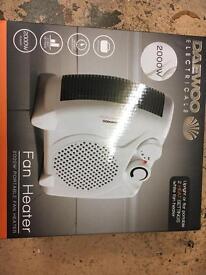 2000w portable fan heater