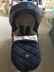 Mamas and papas armadillo stroller dark navy with footmuff and extras