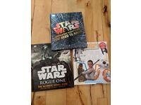 Star Wars Books x3, New, Hardback