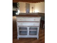 vintage/ french style painted dresser/cabinet