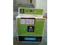 DYMO Label Cassette D1 Black White 24mm x 7mm