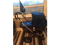 Bugaboo chameleon blue comes with seat cover sleeping bag parasol in very good condition