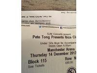X2 Genuine Tickets for Pete Tong Ibiza Classics Manchester 14th December 2017 £80 for both!