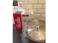 Fissler Pan Stockpot 24cm 6.8L **Stainless Steel **NEW & BOXED