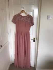 Beaded pink brisdesmaids dress size 10