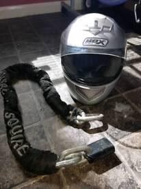 Bike helmet and chain lock