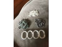 Lot of Curtain Rings and Hooks